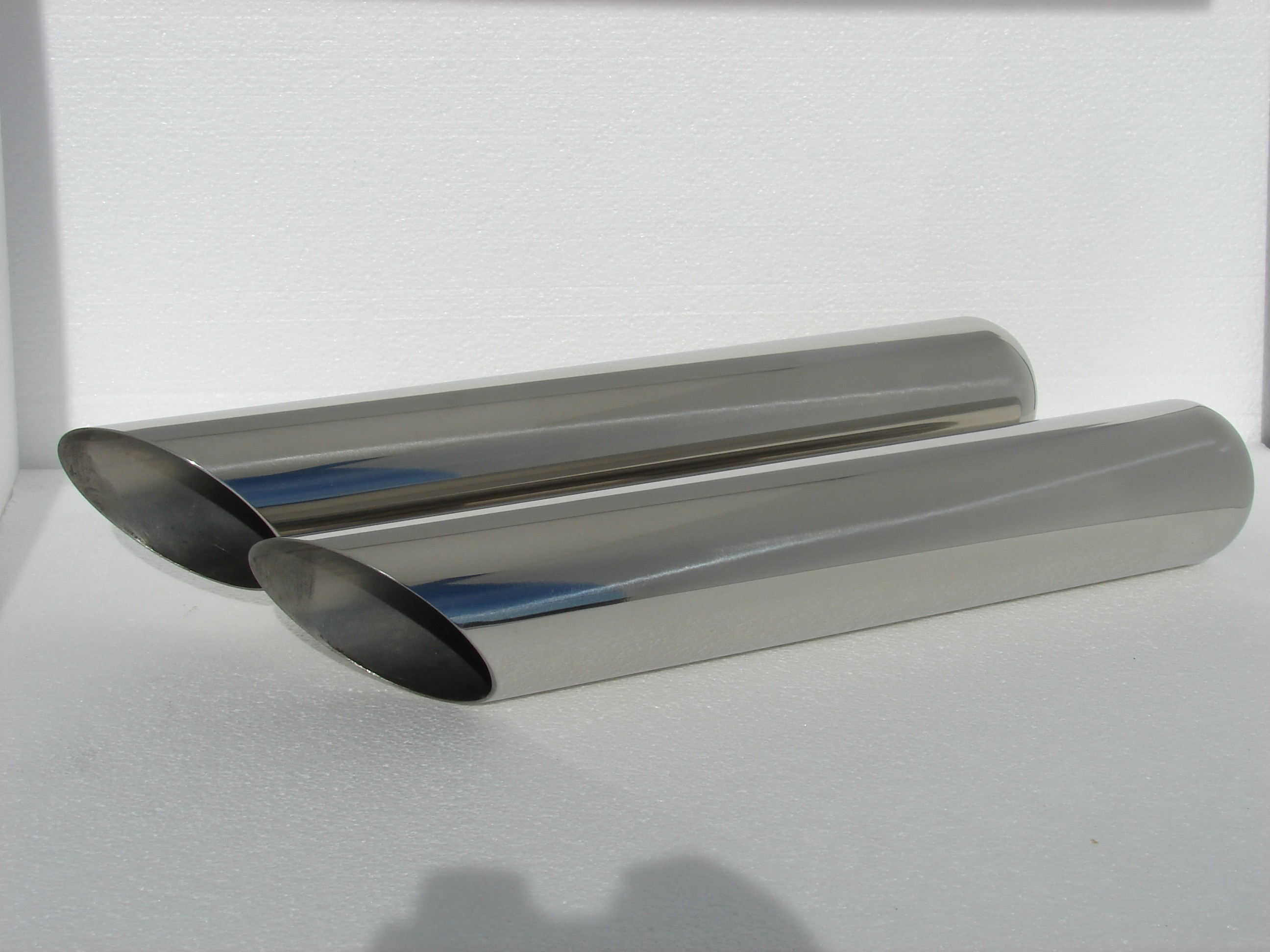 """Pair of 18/"""" Long Exhaust Tips Stainless Steel for some Ford Mustang Chevy Camaro"""